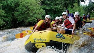 Rafting EcoAção com Tirolesas
