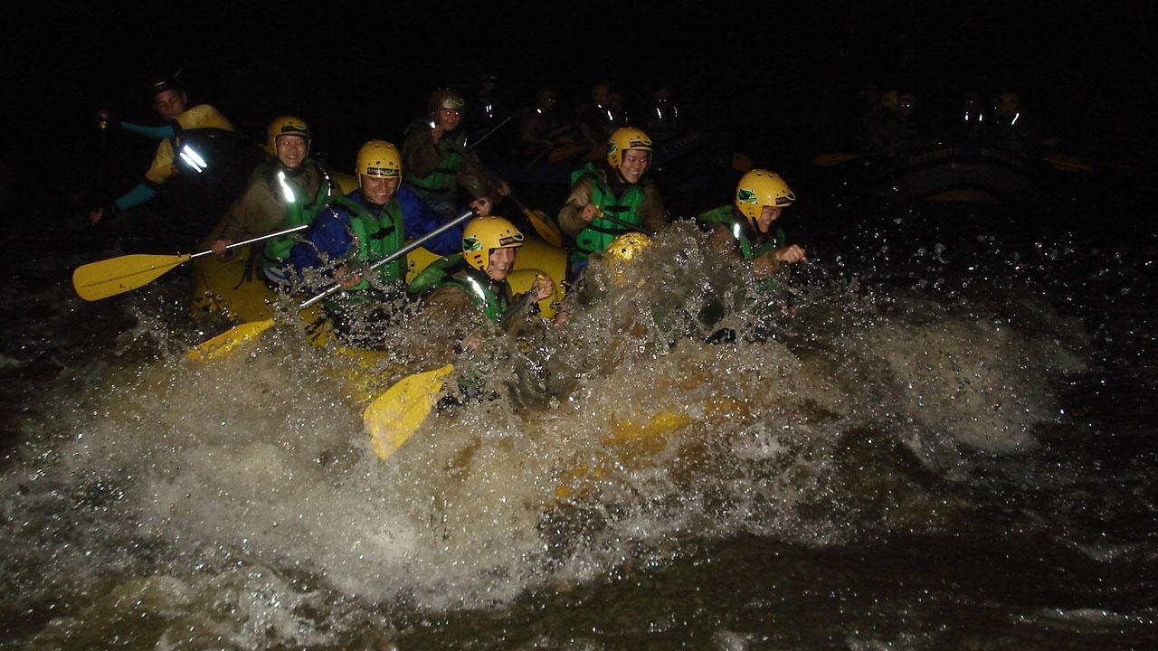 Rafting Noturno em Brotas, SP