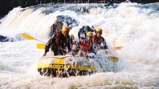 Rafting em Brotas com chuva